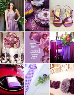 Pantone Color of the Year - Radiant Orchid #wedding #inspiration #radiantorchid #pantone #coloroftheyear #colorof2014