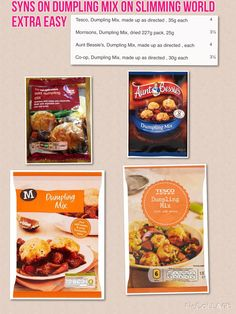 """Syns on """"Dumpling Mix"""" on Slimming World Extra Easy"""