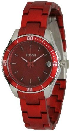 Fossil Stella Mini Aluminum and Stainless Steel Watch Red Fossil. $79.99. 31mm Case Diameter. 50 Meters / 165 Feet / 5 ATM Water Resistant. Analog Quartz Movement. Aluminum Collection. Mineral Crystal