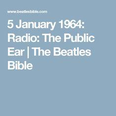 5 January 1964: Radio: The Public Ear | The Beatles Bible