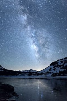Milky Way Reflected in Tioga Lake by Rick Whitacre, via Flickr