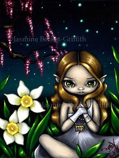 Virgo astrological sign fairy art print by Jasmine by strangeling Astrology Signs, Astrological Sign, Zodiac Signs, Virgo Constellation Tattoo, Fairy Pictures, Virgo Pictures, Zodiac Art, Virgo Art, Aquarius