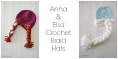 Making these for Avery tomorrow!!!! Anna & Elsa Crochet Hat | rickabamboo.com | #disney #frozen #pattern