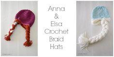Anna & Elsa Crochet Hat pattern
