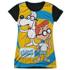 "Checkout our #LicensedGear products FREE SHIPPING + 10% OFF Coupon Code ""Official"" Mr Peabody & Sherman/explanation-s/s Junior Poly T- Shirt - Mr Peabody & Sherman/explanation-s/s Junior Poly T- Shirt - Price: $24.99. Buy now at https://officiallylicensedgear.com/mr-peabody-sherman-explanation-s-junior-poly-shirt-licensed"
