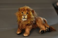 Home › darialvovsky › birds and animals  Needle felted Lion-King of Beasts-Soft Sculpture by Daria Lvovsky