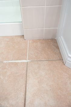 Make your tiled floor look brand new again! This tutorial has the easiest tips and tricks to paint your tile grout with just a few simple steps. Avoid the hassle of cleaning your dirty grout lines and find the best paint products to freshen up your grout. Grout Paint, Sanded Grout, Tile Grout, Grout Repair, Easy Tile, Painting Tile Floors, Throw In The Towel, Floor Ceiling