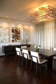 Chairs - Holly Hunt contemporary dining room by jamesthomas, LLC