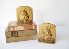 #promstorm16 Vintage Cast Iron Bookends Sailing Ship by AlegriaCollection  #RePin by AT Social Media Marketing - Pinterest Marketing Specialists ATSocialMedia.co.uk