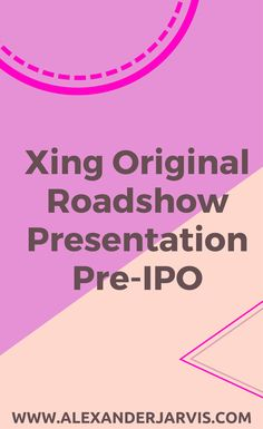 Ten years after their IPO, the CEO, Lars Hinrichs, shared their original Xing roadshow presentation for their IPO. They used this to reach out to investors and to price thier IPO. Start Up Business, In Writing, Pitch, Decks, Scale, Presentation, The Originals, Reading, Weighing Scale