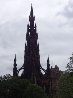 Edinburgh, Scotland. The Scott Monument which is named after Scott's Waverley novels. Katrina©B