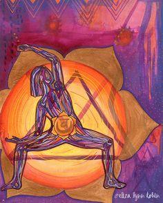 Yoga Art Print | 8x10 | Sacral Chakra | gift for yogi | chakra art | chakra wall art