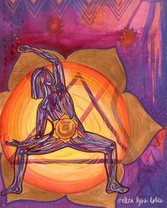 You have a flowing, glowing creative well within you. You are enough. Yoga Art Print - Sacral Chakra - by Eliza Lynn Tobin
