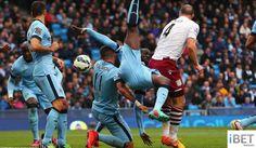 EPL Bola Sepak Man City 3:2 Aston Villa Football Highlights 26/4/2015 HD