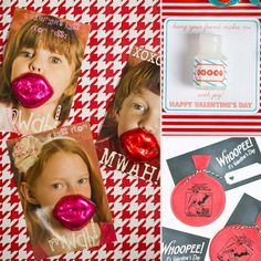 Lips 59 DIY Valentine's Day Cards Perfect For the Classroom Party Kinder Valentines, My Funny Valentine, Valentine Day Love, Valentine Day Crafts, Valentine Ideas, Valentine Picture, Valentine Party, Printable Valentine, Homemade Valentines
