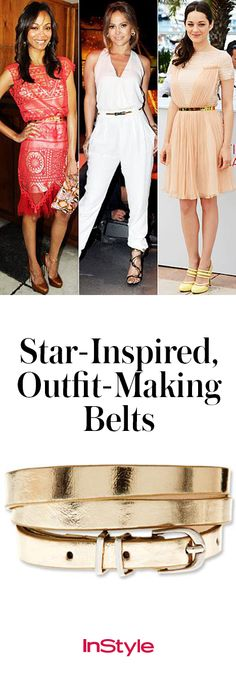 Belts aren't just for holding up jeans. Buckle up for a guide to five hot styles.