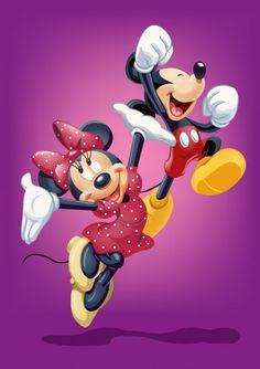 Minnie Mouse and Mickey Mouse Image Mickey, Mickey Love, Retro Disney, Cute Disney, Images Disney, Disney Pictures, Disney Cartoon Characters, Disney Cartoons, Fictional Characters