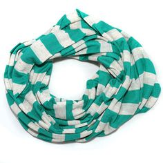 Knit Scarf Stripe Oatmeal Green now featured on Fab.