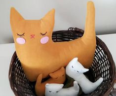 Cat stuffed animal toy family Perfect Gift for Cat Lover Cat