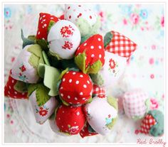 Fabric Strawberry Tutorial