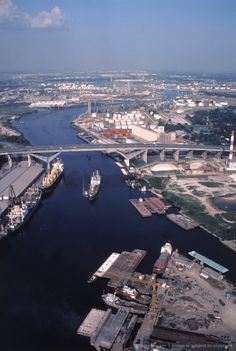 The Houston Ship Channel, is part of the Port of Houston One of the busiest seaports in the United States. Use to go there with my Dad when I was a child. He inspected foreign ships for the US Customs. Good memories! :-)