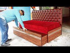 Bedroom Bed Design, Bedroom Furniture Design, Diy Furniture, Sofa Come Bed, Sofa Bed, Tv Cabinet Design Modern, Sofa Cumbed Design, How To Make Sofa, Wooden Sofa Designs