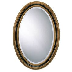 """Classic Oval Mirror Traditional Accents Oval Mirrors Home Decor - 21""""W x 31""""H - $130"""