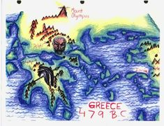 The basics: places - Delphi; the protagonists - Sparta and Athens: neat and tidy. Oh and the year the map represents.