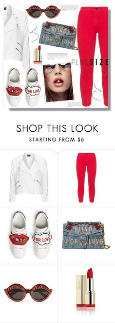 """Blind For Love"" by queenvirgo ❤ liked on Polyvore featuring Veto, NYDJ, Gucci and plussize"