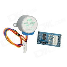LSON 5V 4-phase Stepper Motor Learning Package w/ Driver Board - Multicolored. 1. 5-12V power supply pin; 2. on-board 4-way signal light; 3. XH-5P on-board socket supports direct connection with 28BYJ-48 stepper motor.. Tags: #Electrical #Tools #Arduino #SCM #Supplies #Motors