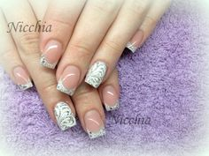 Nails flowers wedding manicure Find us on: www.facebook.pl/neonailpl