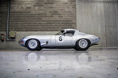 Jag E type, lightweight aero coupe...