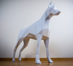 Inspired by the classic animal trophies but informed by Postmodern art and origami, PAPERTROPHY is easy, eco-friendly art perfect for the home or office. Diy Paper, Paper Art, Paper Crafts, Paper Glue, Origami, Low Poly, The Paper Magician, Silhouette Cameo, Postmodern Art