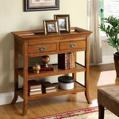 Furniture of America Kams Bottom Trays 2-drawer End Table - Overstock™ Shopping - Great Deals on Furniture of America Coffee, Sofa & End Tables