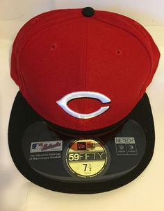 NEW ERA 59FIFTY CINCINNATI REDS BLACK RED HAT ON FIELD MLB FITTED HAT-7 1 2   fashion  clothing  shoes  accessories  mensaccessories  hats (ebay link) 309e20870dd6