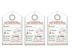 Free printable santa gift tags santa gifts santa and free printable make christmas morning extra special with these free printable and personalized gift tags from santa negle Images