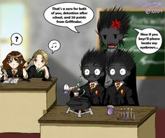 Trouble in Potions... by Tanci.deviantart.com on @deviantART