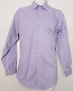 Men Brooks Brothers 346 Dress Shirt Slim Fit 100% Cotton Non Iron 15 1/2 X 32 #BrooksBrothers