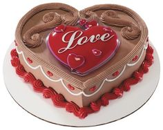 Traditional Happy Valentine's Day Cake