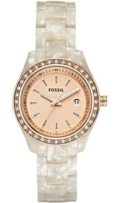 Amazon.com: Fossil Women's ES2864 Stella Rose Gold Dial Watch: Fossil: Watches