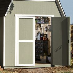 Shop Heartland Ridgeview Gambrel Wood Storage Shed (Common: 8-ft x 10-ft; Interior Dimensions: 8-ft x 10-ft) at Lowes.com