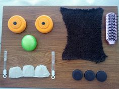 """An inexpensive sensory board for kids inspired by the book """"The Gruffalo. Gruffalo Activities, Gruffalo Party, The Gruffalo, Sensory Activities, Learning Activities, Nursery Activities, Classroom Activities, Sensory Boxes, Sensory Wall"""