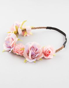 Maison Michel Betty Headband in Pink,Floral