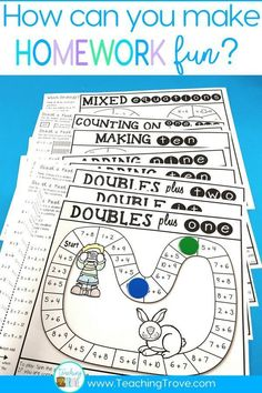 Make homework for your year 1 or second grade kiddos fun by sending home math strategy games. These math games are perfect for mental math practice. Such an easy way for students to learn math strategies for addition and subtraction and have fun doing it! Mental Math Strategies, Subtraction Strategies, Subtraction Games, Addition And Subtraction, Math Addition Games, Addition Strategies, Mental Maths Games, Maths Games Ks1, Multiplication