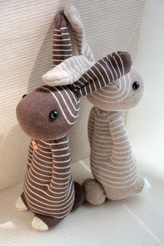 sock rabbit side view