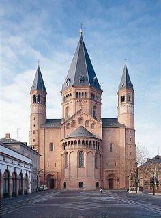 Catedral de Maguncia. Vista de la cabecera.