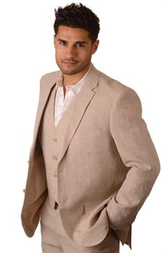 Show details for 3pc Linen Suit