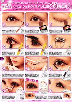 Gyaru make up^^.