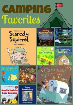 Books about camping for the primary classroom