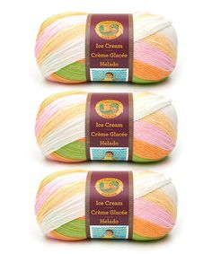 This Spumoni Ice Cream Yarn Skein - Set of Three is perfect! #zulilyfinds